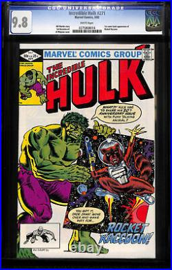 Incredible Hulk 271 CGC 9.8 WHITE PGS 1st COMIC APP of ROCKET RACCOON! KEY