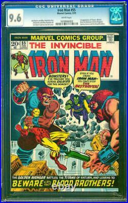 Iron Man #55 Cgc 9.6 1st App Thanos Key