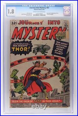 Journey Into Mystery #83 Marvel 1962 CGC 1.8 Origin & 1st App of Thor