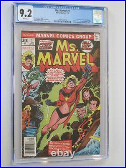 MS. MARVEL # 1 US MARVEL 1977 1st app MS MARVEL NM 9.2 CGC WHITE PAGES 015