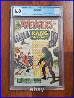 Marvel Avengers #8 CGC 6.0 OWW 1st App of Kang the Conqueror Ant-Man 3 MCU