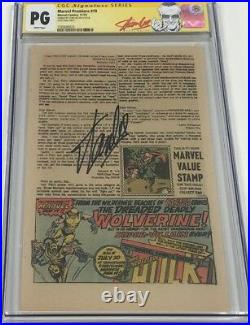 Marvel Incredible Hulk #181 Ad Page for 1st Wolverine App Signed Stan Lee CGC SS