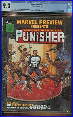 Marvel Preview #2 Cgc 9.2 1st Origin The Punisher 1st App Dominic Fortune