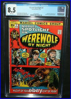 Marvel Spotlight #2 Origin & 1st App of Werewolf by Night CGC 8.5 1972