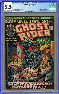 Marvel Spotlight #5 CGC 5.5 1972 3797721002 1st app. And origin Ghost Rider