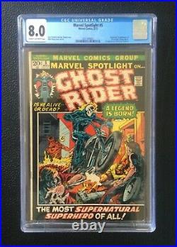 Marvel Spotlight #5 CGC 8.0 1972 1st app. And origin Ghost Rider