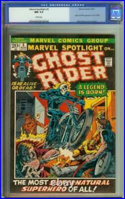 Marvel Spotlight #5 Cgc 9.4 White Pages // Origin + 1st App Ghost Rider 1972
