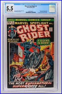 Marvel Spotlight #5 Marvel 1972 CGC 5.5 Origin & 1st App Ghost Rider