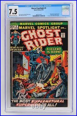 Marvel Spotlight #5 Marvel 1972 CGC 7.5 Origin & 1st App of Ghost Rider