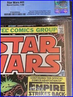 Marvel Star Wars #41 (1980) 1st App Yoda High Republic CGC 9.8 WHITE NEWSSTAND