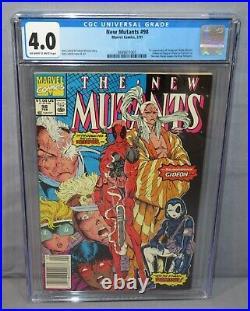 NEW MUTANTS #98 (Deadpool 1st app.) CGC 4.0 VG Newsstand Marvel Comics 1991