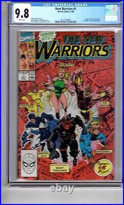 New Warriors #1 (1990)9.8 CGC WithP'1st App Night Thrasher'. Origin New Warriors