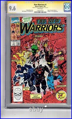 New Warriors #1 9.6 CGC(SS) 2x Stan Lee 1st App. Night Thrasher. Etal! 1st PRINT