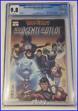 New agents of atlas#1 cgc 9.8 (1st app. Of Luna/Wave/Cresent&Lo/Areo) VERY