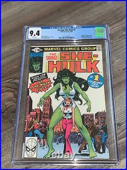 Savage She-Hulk #1 CGC 9.4 NM WP Origin & 1st App Marvel 1980 Disney+ Near Mint