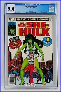 Savage She-Hulk #1 CGC 9.4 White Pages Newsstand First Appearance 1st App Grail