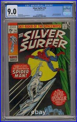 Silver Surfer #14 Cgc 9.0 Spider-man App