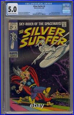 Silver Surfer #4 Cgc 5.0 Thor & Loki App