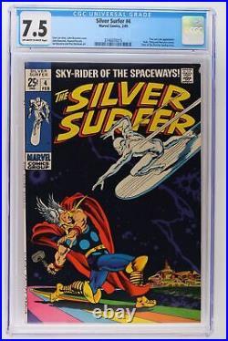 Silver Surfer #4 Marvel 1969 CGC 7.5 Thor and Loki App