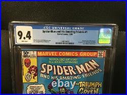 Spider-Man and his Amazing Friends #1 CGC 9.4 (Newsstand) First App of Firestar