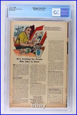 Strange Tales #115 Marvel 1963 CGC 6.5 Spider-Man App! Origin Doctor Strange