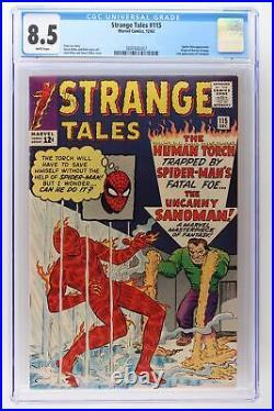 Strange Tales #115 Marvel 1963 CGC 8.5 Spider-Man App! Origin Doctor Strange