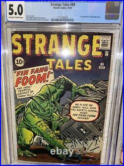 Strange Tales 89 CGC 5.0 OWithW (Marvel, 1961) 1st app Fin Fang Foom SHANG CHI MCU