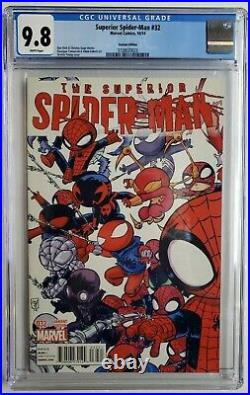 Superior Spider-man #32 Cgc 9.8 Young Variant Spider-verse Miles 1st App Karn