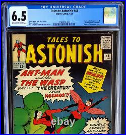 Tales To Astonish #44 (1963) Cgc 6.5 Ow-w Origin & 1st App Of The Wasp