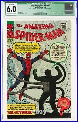 The Amazing Spider-Man #3 (Jul 1963, Marvel Comics) CGC FN 1st app. Dr Octopus