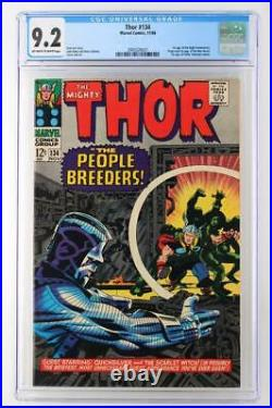 Thor #134 CGC 9.2 NM- Marvel 1966 1st App High Evolutionary & Man-Beast