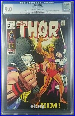 Thor #165 1969 CGC 9.0 VF/NM old label 1st full App Him/Adam Warlock 1290032020