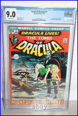 Tomb Of Dracula #1 Cgc 9.0 (vf-nm)! 1st App. Of Dracula In A Marvel Comic