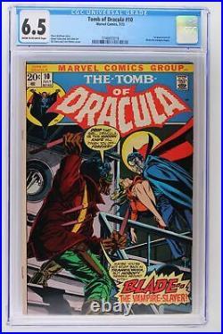 Tomb of Dracula #10 Marvel 1973 CGC 6.5 1st App Blade the Vampire Slayer