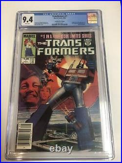 Transfomers (1984) # 1 (CGC 9.4) Canadian Price Variant 1st App Transformers