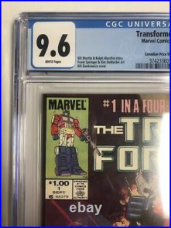 Transfomers (1984) # 1 (CGC 9.6) Canadian Price Variant 1st App Transformers