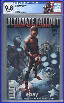 Ultimate Fallout #4 CGC 9.8 Stunning Book! 2nd Print 1st App of Miles Morales