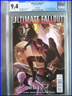 Ultimate Fallout #4 Variant CGC 9.4 WP 1st app New Spider-Man (Miles Morales)