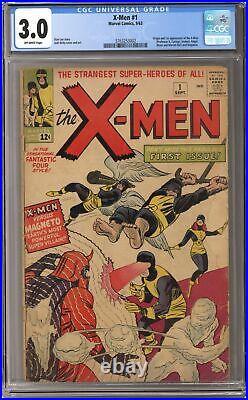 Uncanny X-Men #1 CGC 3.0 1963 3763253002 1st app. X-Men