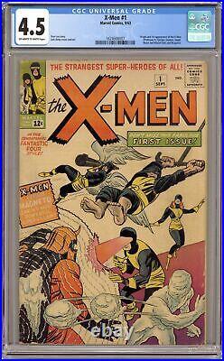 Uncanny X-Men #1 CGC 4.5 1963 1624608007 1st app. X-Men