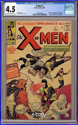 Uncanny X-Men #1 CGC 4.5 1963 3799076002 1st app. X-Men