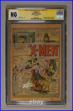 Uncanny X-Men #1 CGC NG Coverless SS Stan Lee 1316571001 1st app. X-Men