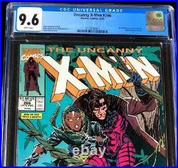 Uncanny X-Men #266 CGC 9.6 WHITE PGs 1st Full App GAMBIT Marvel Comic 1990