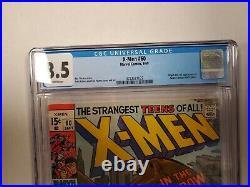 (Uncanny) X-Men #60 CGC 8.5 1st App of Sauron Neal Adams Marvel Comics 1969