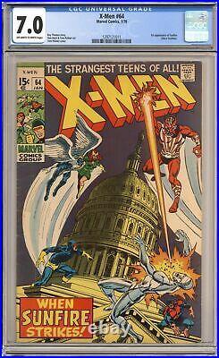Uncanny X-Men #64 CGC 7.0 1970 1297121011 1st app. Sunfire