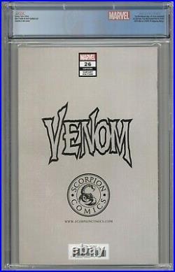 Venom #26 CGC 9.8 Scorpion Comics Virgin Edition 1st App Virus Clayton Crain COA