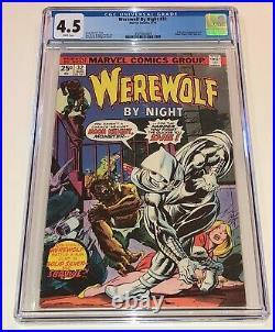 WEREWOLF BY NIGHT #32 Origin & 1st app MOON KNIGHT 1975 CGC 4.5 looks nicer