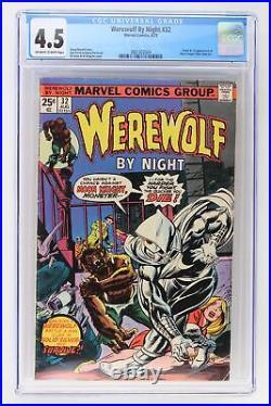 Werewolf By Night #32 Marvel 1975 CGC 4.5 Origin & 1st App of Moon Knight
