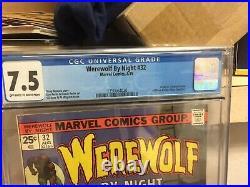 Werewolf by Night 32, CGC 7.5, 1st APP Of Moon Knight. DISNEY+ SERIES. HOT