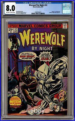Werewolf by Night #32 CGC 8.0 1975 0309156014 1st app. Moon Knight